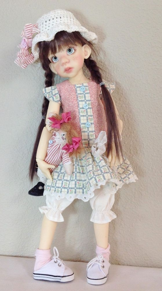 Drop waist dress with Wilabee rag dolly~Fits Kaye Wiggs Talyssa /Mei Mei~by DCH