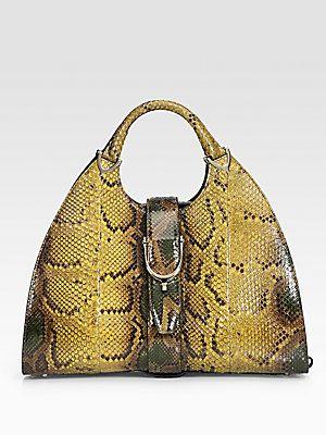 5ad91f410647 Gucci Python Stirrup Medium Top Handle Bag --- To the Gawds Hunty!!!! yes!