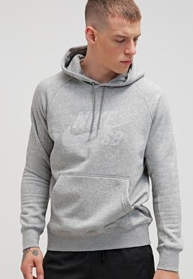 Nike SB Sudadera - grey heather/white - Zalando.es | Cazadora