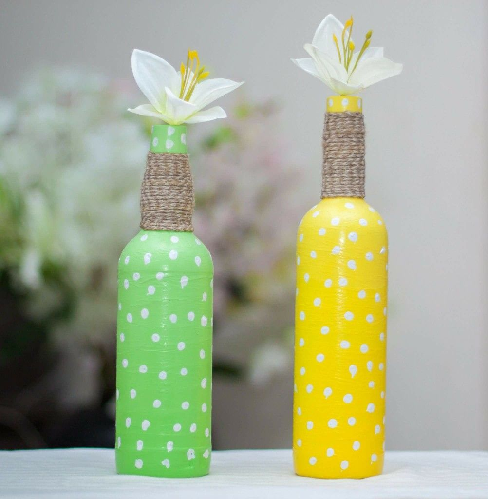 Easy And Simple Bottle Decoration Ideas Bottle Crafts Bottles