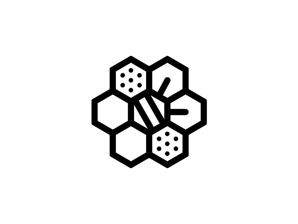 Bee Hive Hive Logo Bee Icon Bee