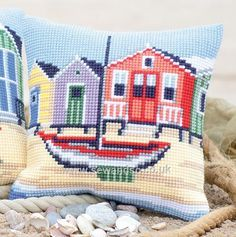 Collection D/'Art CD5175 Mighty Tug Cross Stitch Cushion Front Kit
