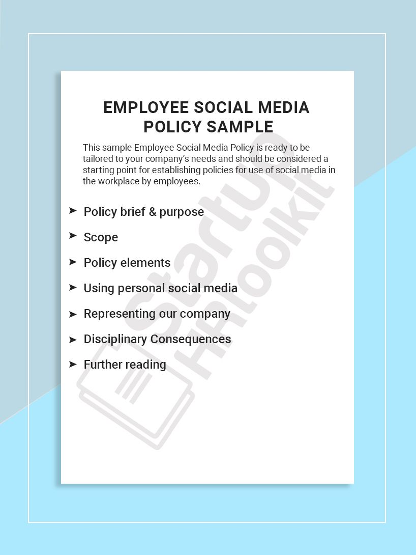 This Sample Employee Social Media Policy Is Ready To Be Tailored