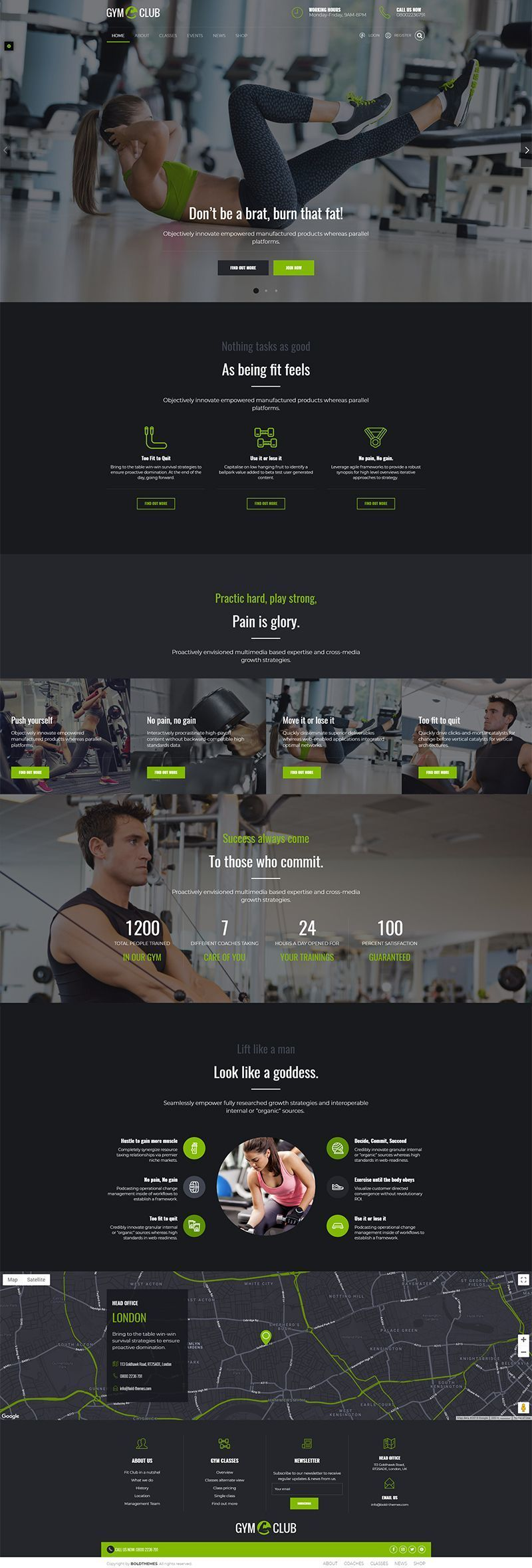 Fitness Club is a #WordPress theme exclusively built for #fitness, #yoga, #dance, #gym, #health club...