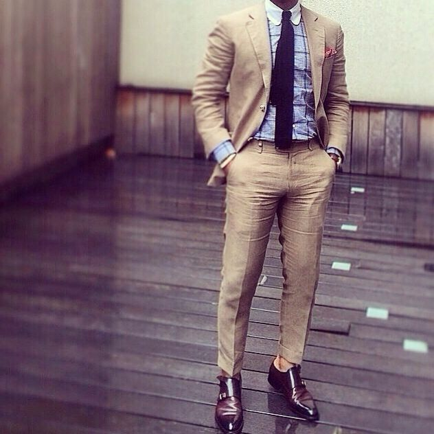 Suit Tie Co Thoughts On This Outfit Stylish Men Mens Outfits Beige Suits