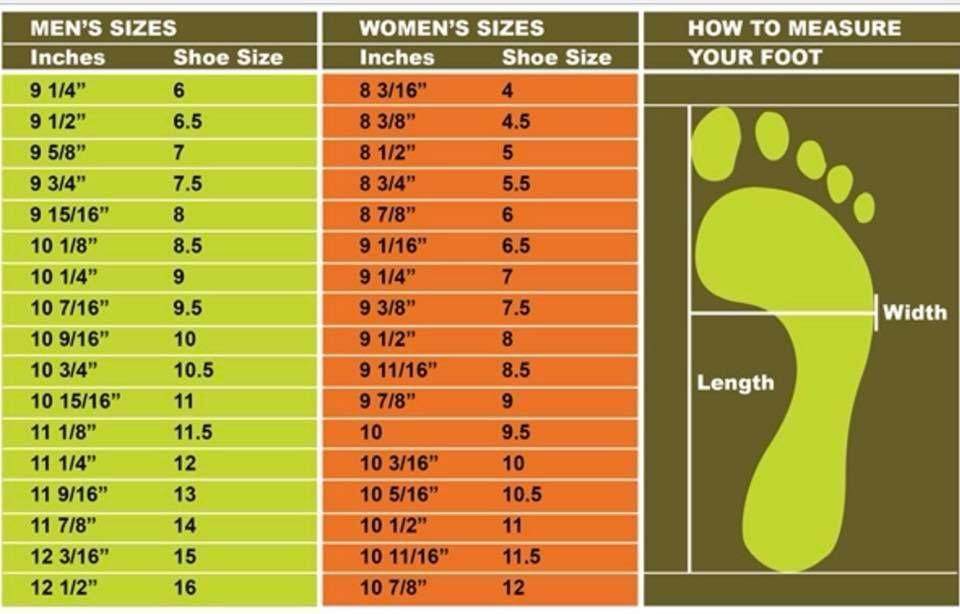 Sock Shoe Sizing Chart Shoe Chart Knitting Socks How To Make Shoes