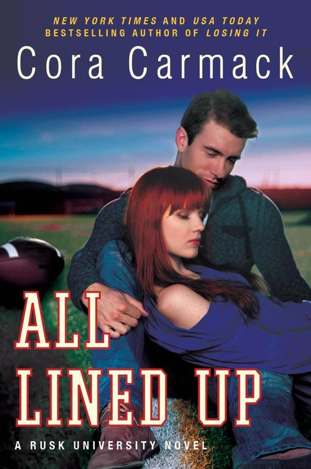 All Lined Up – Cora Carmack http://harpercollins.com/books/All-Lined-Up-Cora-Carmack/?isbn=9780062326201