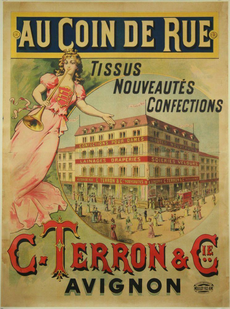 Magasin Au Coin De Rue Avignon Tissus Nouveaute Confection C Terron Cie