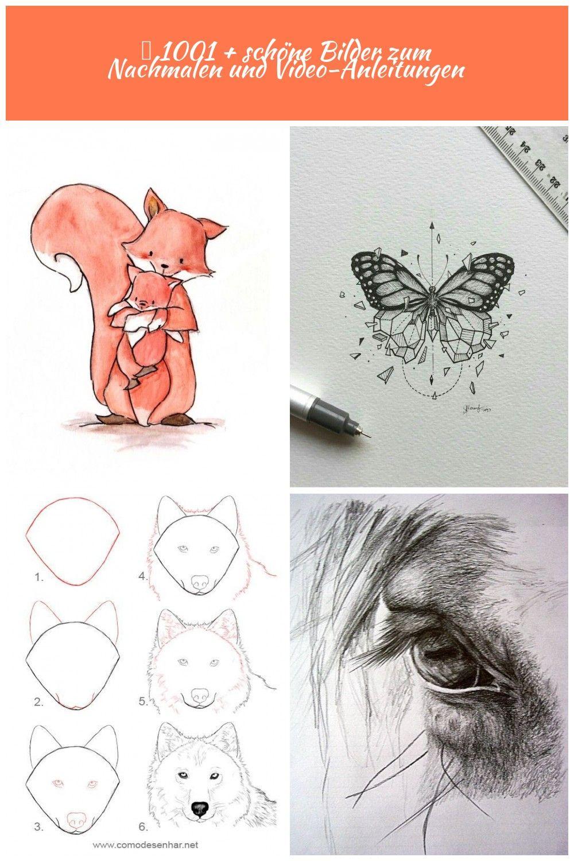 Mutter Und Baby Fuchse Selber Malen Schone Illustration Zum Nachmalen Tiere Zeichnen Tiere Zeichnen 1001 Schone Bilder Zum Female Sketch Male Sketch Art
