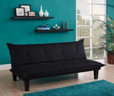 Amazon.com: Dorel Home Products Lodge Futon, Black: Home & Kitchen