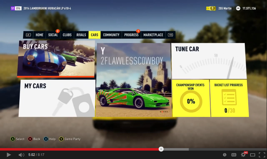forza horizon 2 UI - Google Search