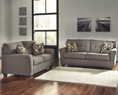 Pleasing Tibbee Sofa And Loveseat By Ashley Homestore Slate Living Bralicious Painted Fabric Chair Ideas Braliciousco