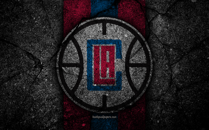 Download Wallpapers Los Angeles Clippers Nba 4k Logo Black Stone Basketball Western Conference Asphalt Texture Usa La Clippers Creative Basketball Cl Los Angeles Sports Wallpapers Nba Wallpapers