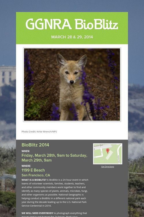 Join us for this #FREE event @GoldenGateNPS #BioBlitz2014 #kids #family #fun