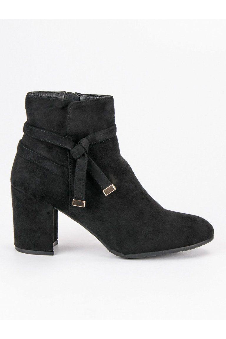 be3048f09515c Klasické topánky čierne členkové čižmy semišové CnB | Topánky - NAJ.SK |  Shoes, Boots a Fashion