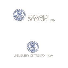 Logo Università di Trento - a colori in versione inglese