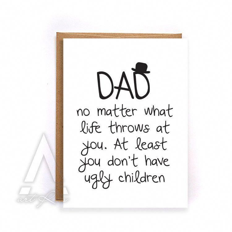 Dad birthday card from kids thank you card funny