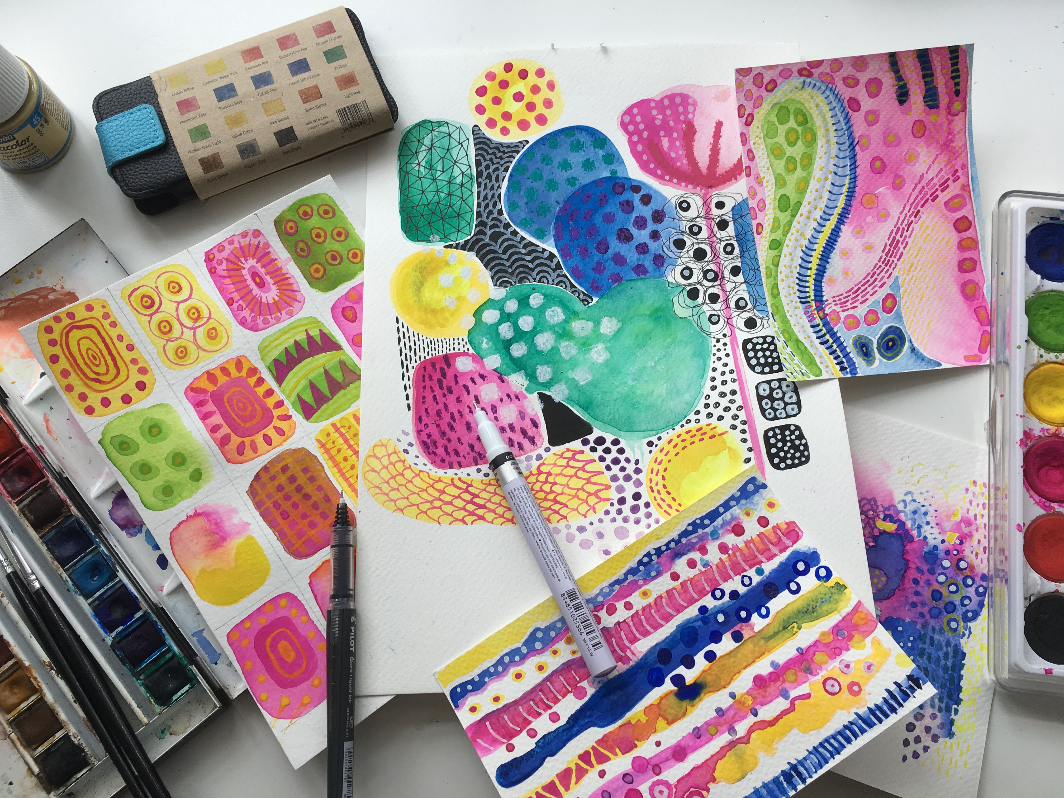 Creative Watercolor Painting Experimenting With Colour
