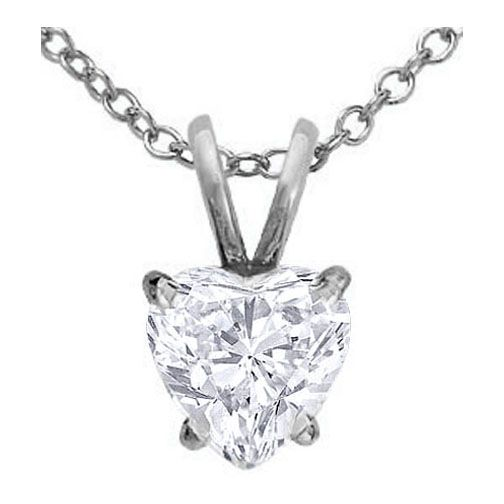 Heart shape diamond pendant necklace 070 carat in 14 karat white heart shape diamond pendant necklace 070 carat in 14 karat white gold aloadofball Gallery