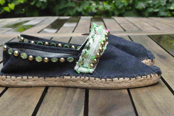 Boho embroidered espadrilles by YISKASHOP on Etsy