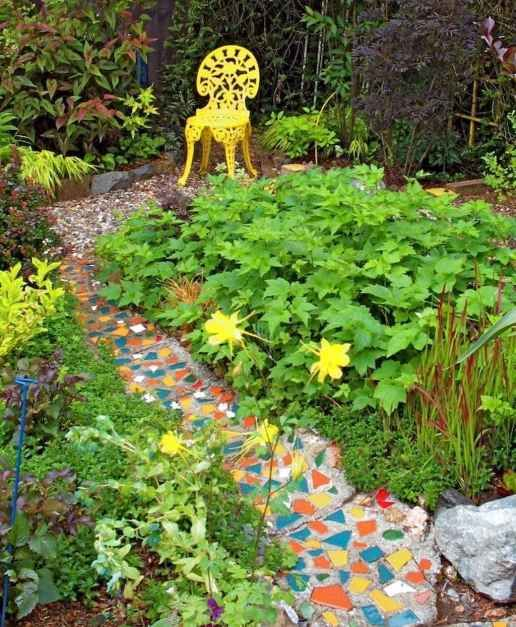 Photo of 17 Beautiful DIY Mosaic Garden Path Decorations For Your Landscape Inspiration – Insidexterior
