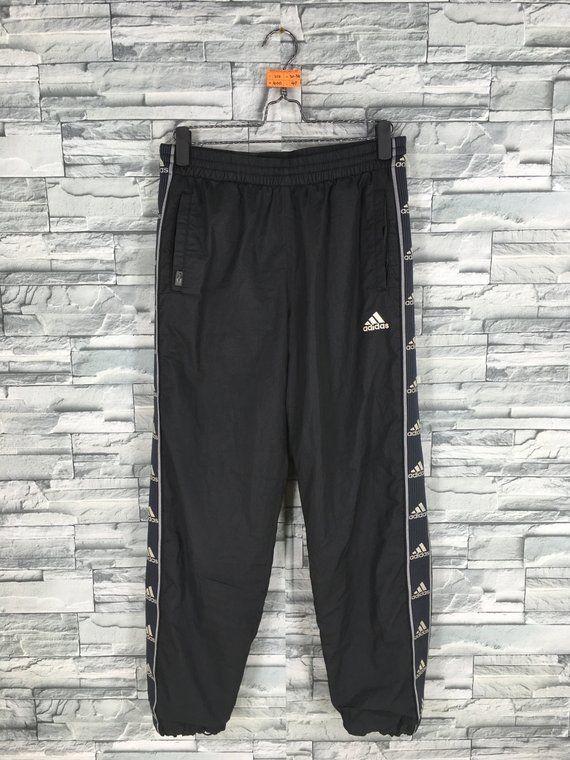 e46232dbb8775 Vintage ADIDAS Track Pants Adidas Sport Pants Adidas Trefoil Training  Running Sportswear Adidas Thre