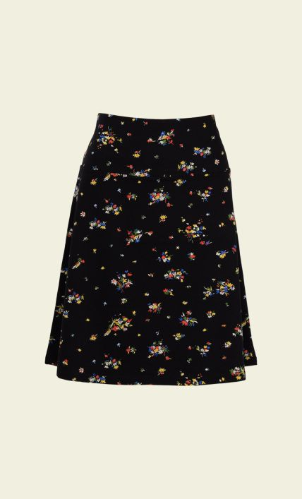Black · King Louie - Border Skirt Honfleur