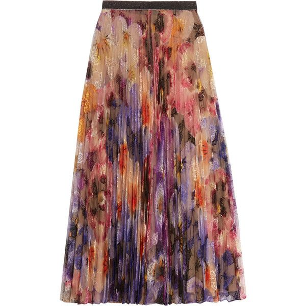 Christopher Kane Pleated printed lace midi skirt (5.030 BRL) ❤ liked on Polyvore featuring skirts, red midi skirt, red lace skirt, christopher kane, flower midi skirt and midi skirt