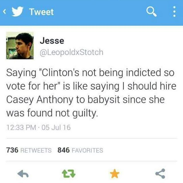 What do you guys think? The FBI speech given yesterday even said that there was overwhelming evidence of a crime but used intent and tampering of evidence as an excuse to why she was let off scott free. ( Click link in my Bio to check out our Facebook!!) Feel free to repost @bernie4potus @rightwingtalk @berniesanders.2016 Great IGs!! #berniesanders2016 #bernie2016 #feelthebern #berniesanders #democrat #liberal #hillaryclinton #imwithher #politics #healthcare #education#nj @berniesanders…