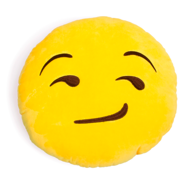 Smirking Emoji Pillow Emoji Pillows Emoji Pillows Plush Plush Pillows