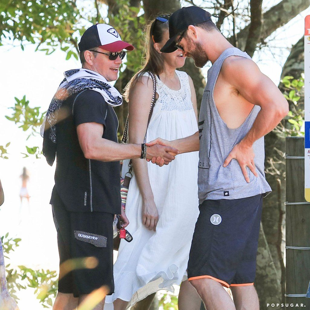 Chris Hemsworth And Matt Damon Have A Beach Day Down Under
