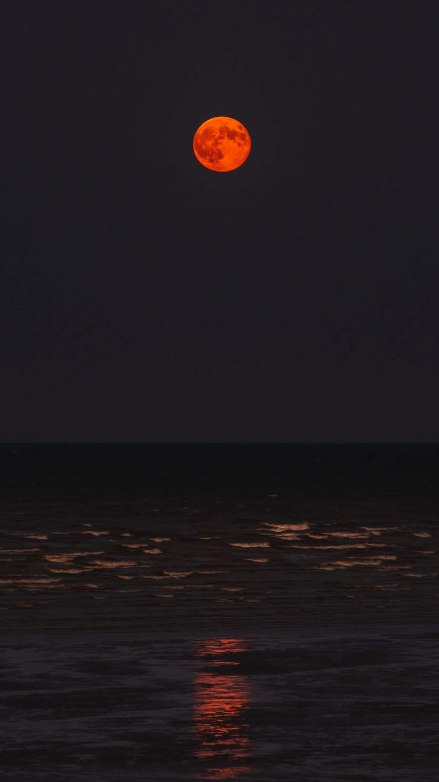 Red Moon On The Beach Wallpaper Iphone Android Background Followme Dark Red Wallpaper Beautiful Wallpapers Dark Wallpaper
