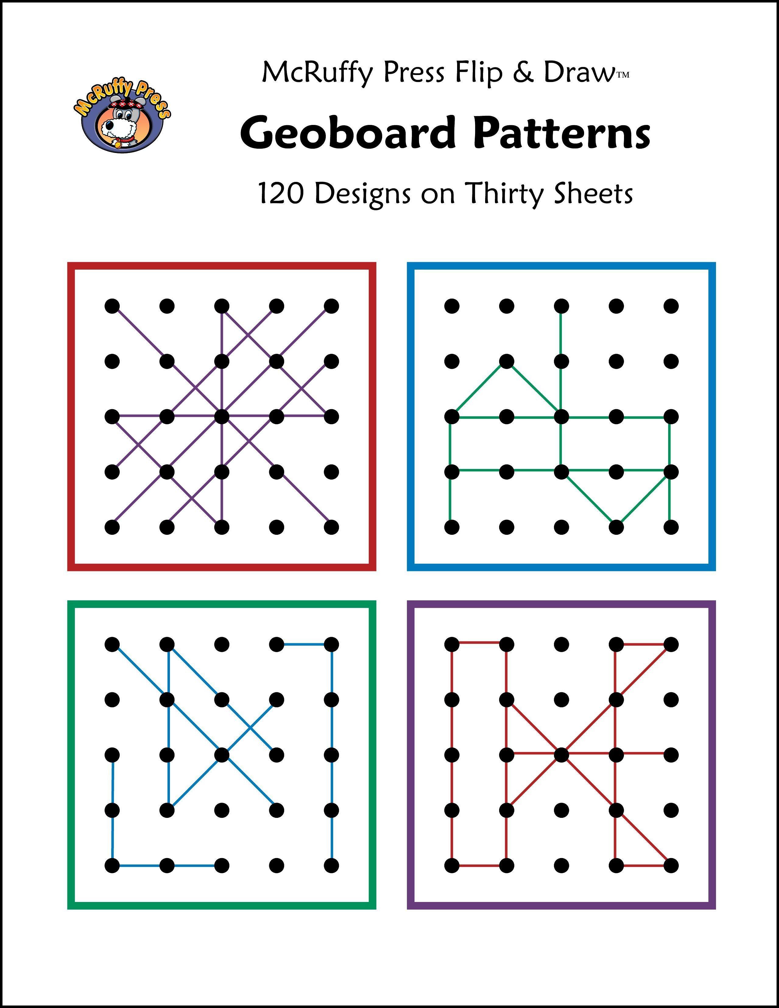Mcruffy Geoboard Patterns Flip And Draw Book