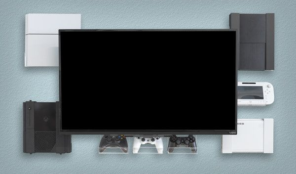 video game console wall mount ps4 wall mount xbox storage ps3 shelf hideit mounts. Black Bedroom Furniture Sets. Home Design Ideas