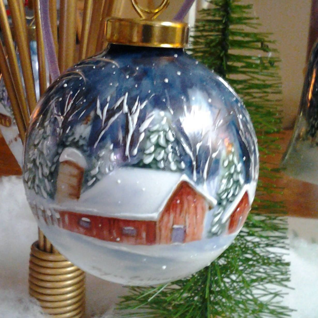 Artist Joyce Callaway With Images Painted Christmas Ornaments