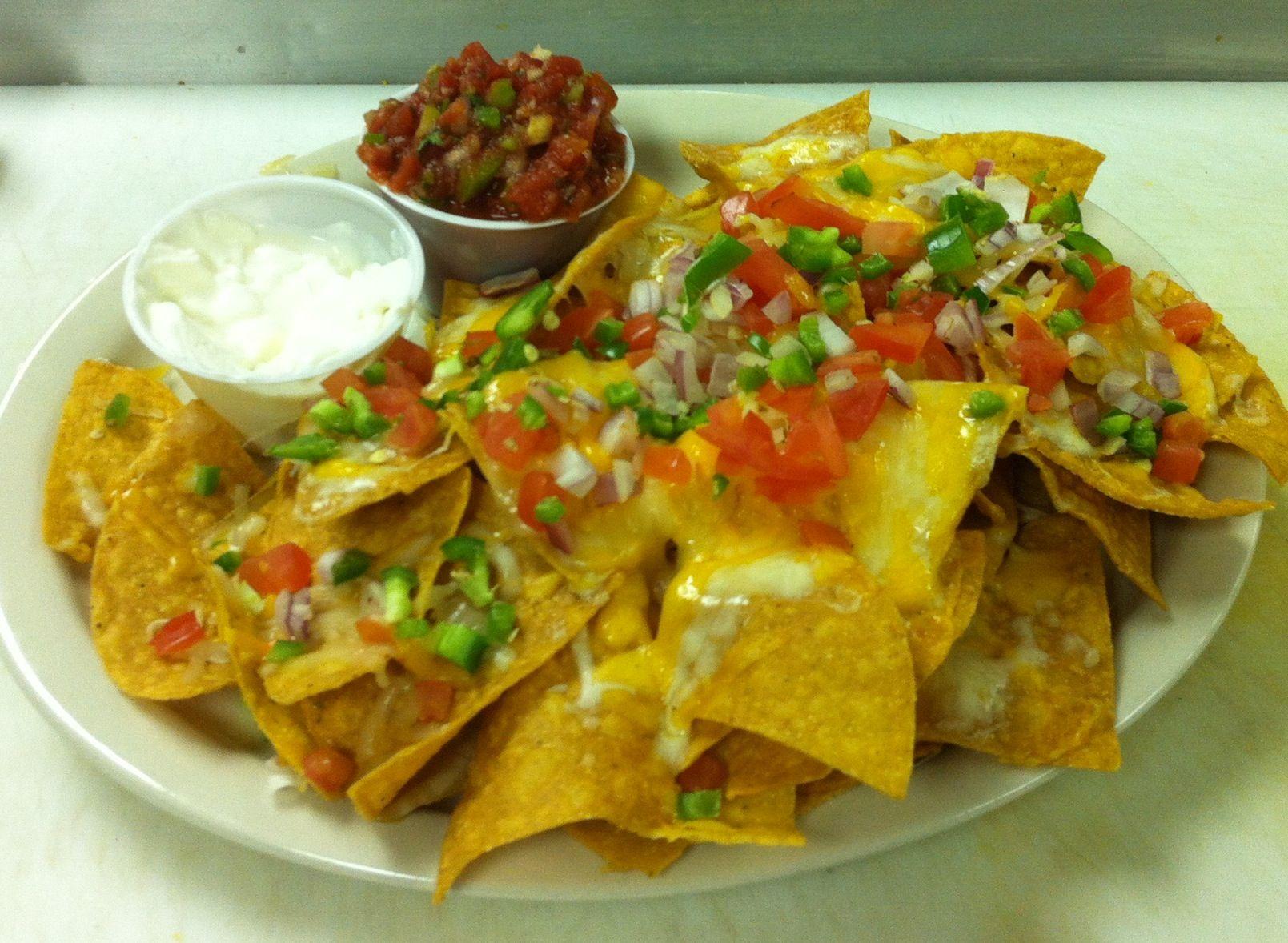 cheese and salsa nachos