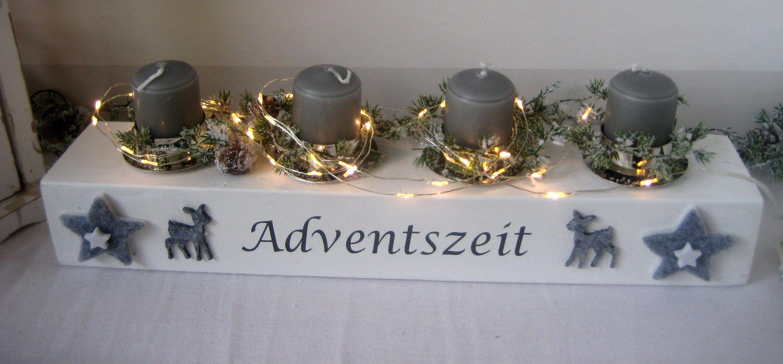 Led Adventskranz Mit Kerzen Winterwonderland Weihnachten