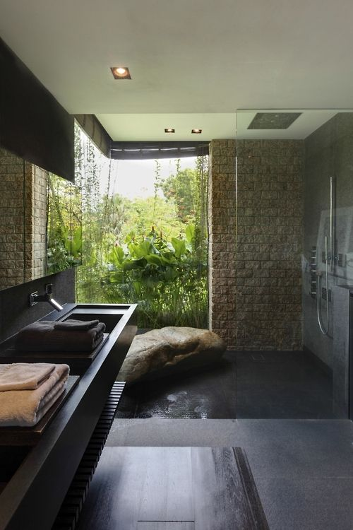 Why yes, yes I would like a giant stone in my shower. - Merryn Road ...