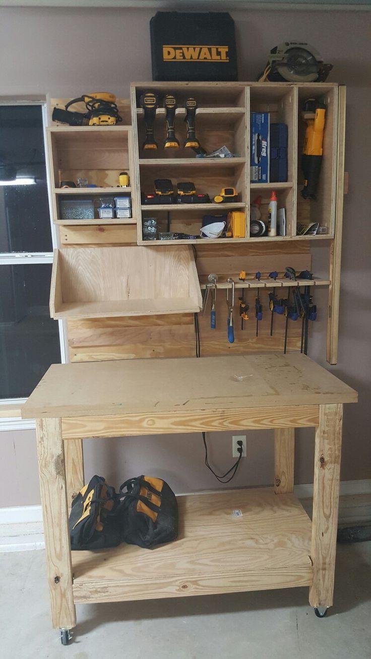 garage tool storage on french cleat system bricolage pinterest rangement garage garage e. Black Bedroom Furniture Sets. Home Design Ideas
