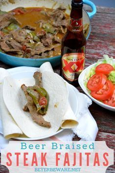 Beer braised steak fajitas are a quick skillet beef fajita recipe thanks to some fajita meat and tenderizing from the beer. #Fajitas #Steak #QuickMeals #mexicanfoodrecipes #mexican #mexicanfood #beeffajitarecipe Beer braised steak fajitas are a quick skillet beef fajita recipe thanks to some fajita meat and tenderizing from the beer. #Fajitas #Steak #QuickMeals #mexicanfoodrecipes #mexican #mexicanfood #beeffajitarecipe Beer braised steak fajitas are a quick skillet beef fajita recipe thanks to #beeffajitarecipe