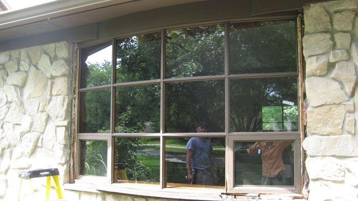 Older Single Pane Bow Window Bow Window Windows Sunroom