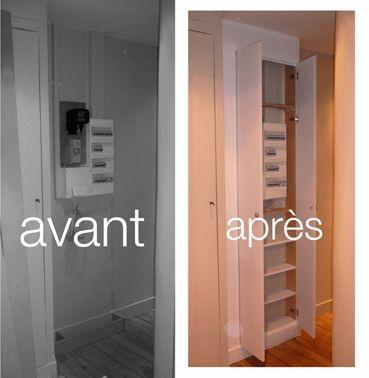 nous voici dans le 9eme paris pour r alis un grand placard pour cacher un compteur. Black Bedroom Furniture Sets. Home Design Ideas