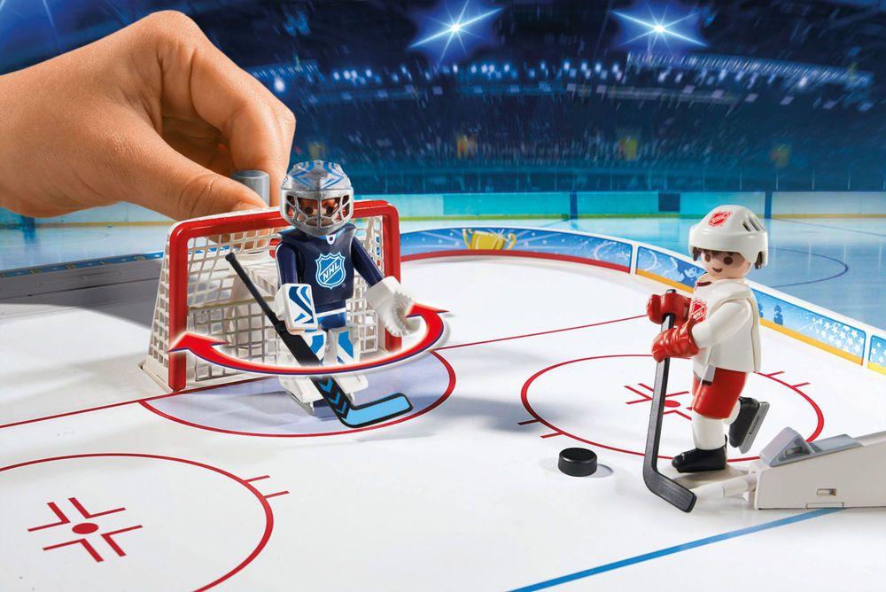Hockey Arena Game Play Toy Top Player Goal Joystick Ice Rink Team Scorekeeper Playmobil Hockey Arena Ice Rink Nhl Hockey
