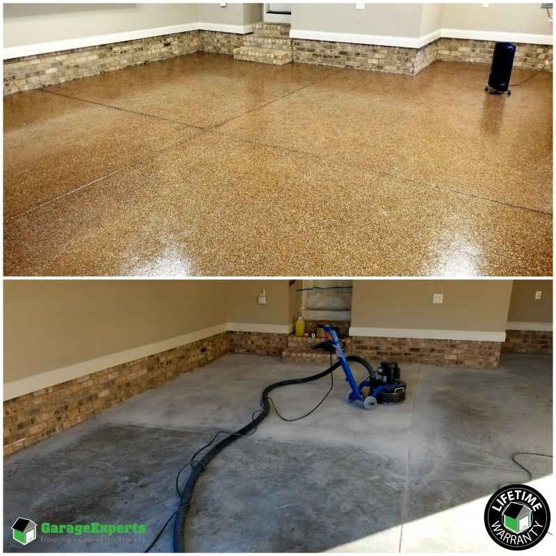 Before and After Epoxy floor