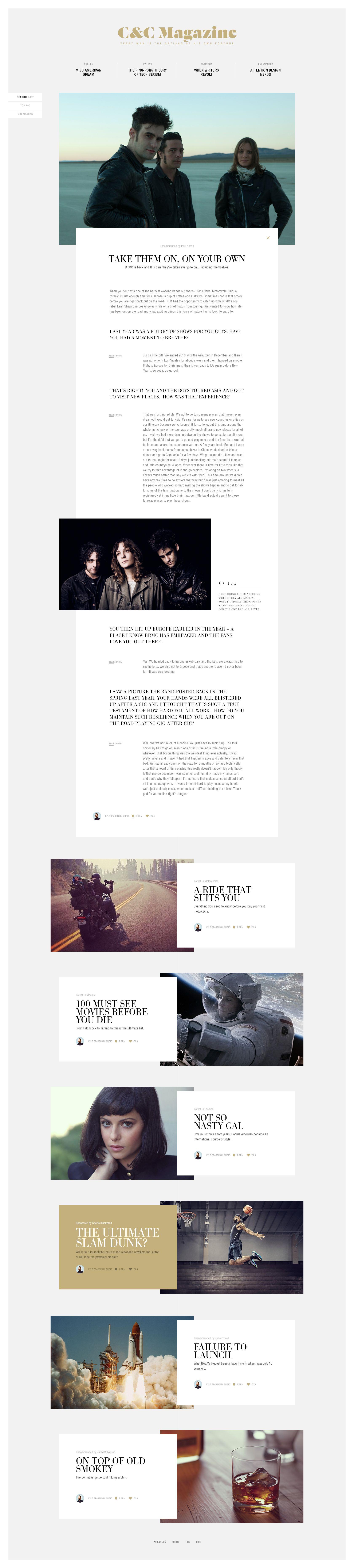C&C Magazine Website