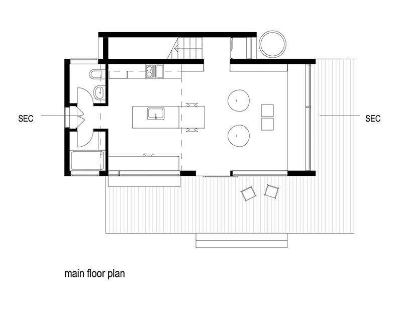 Dadu Butterfly Roof Accessory Dwelling Unit Floor Plans