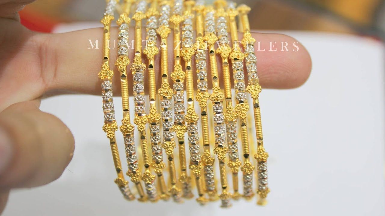 11c67ef617d6f Latest Gold Bangles Designs With Weight,1 Gram gold bangles With ...