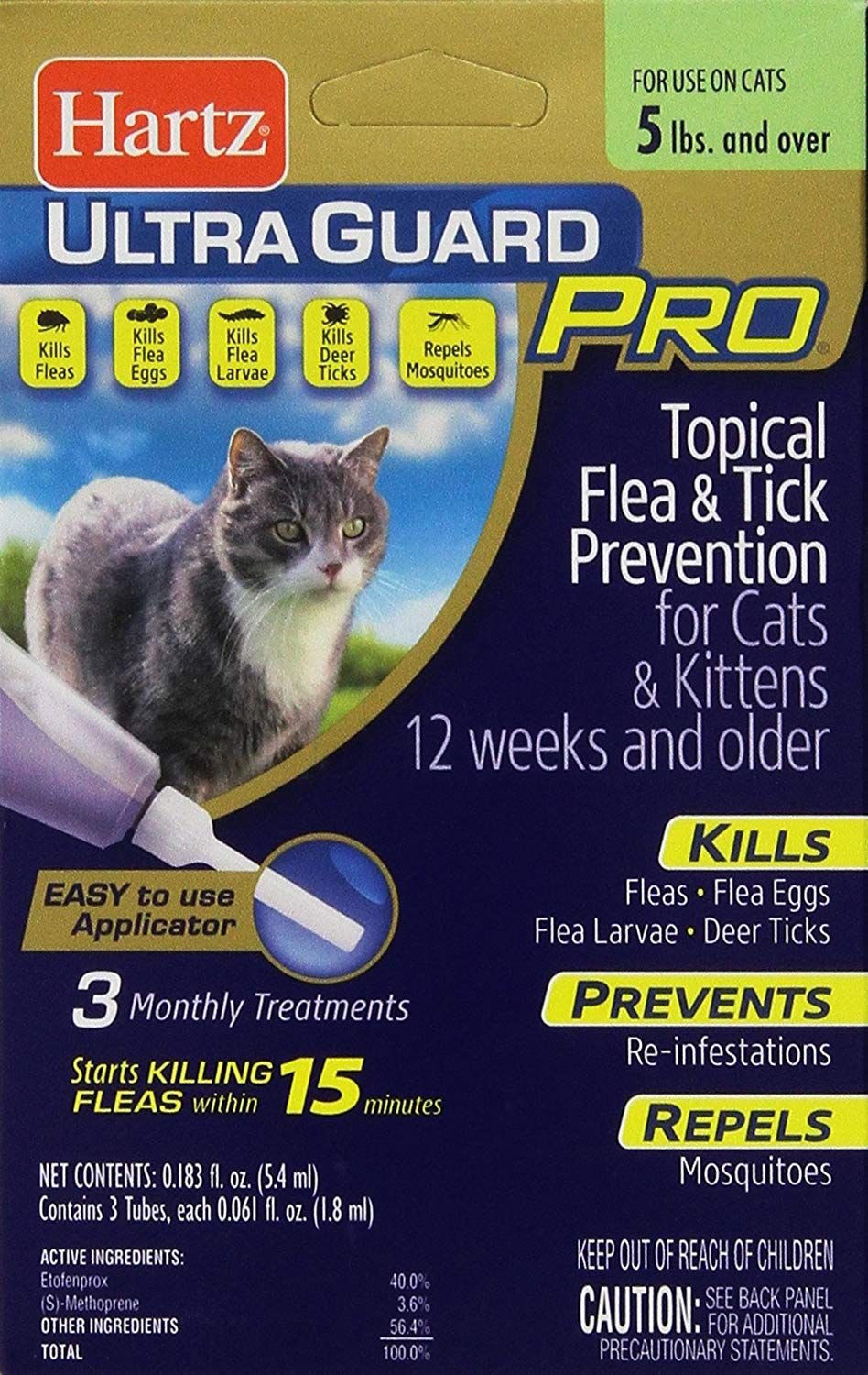 Hartz Ultraguard Pro Topical Flea And Tick Prevention For Cats And Kittens 3 Monthly Treatments Very Nice Of Your Cat Fleas Flea And Tick Tick Prevention
