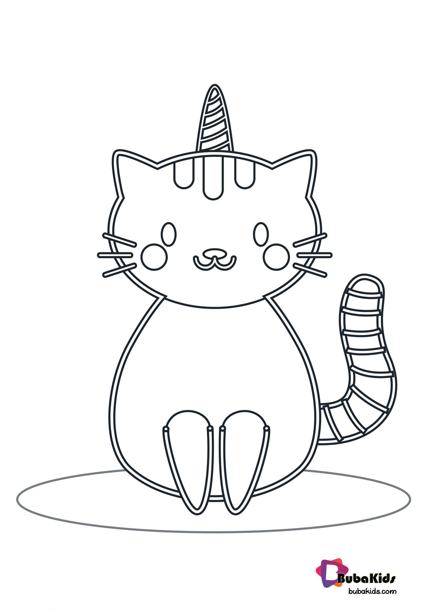 Unicorn Cat Coloring Page Cuadernos