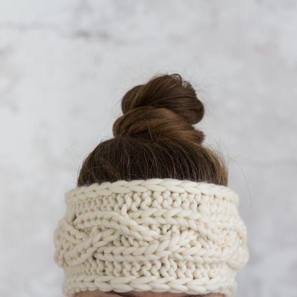 Headband Knitting Pattern : Rib Cable Knit Stitch : ENJOY ...